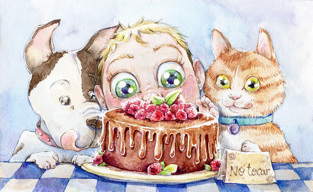 "Ilustración para childweek dia 2 ""tempting"" by Miss Aoki"