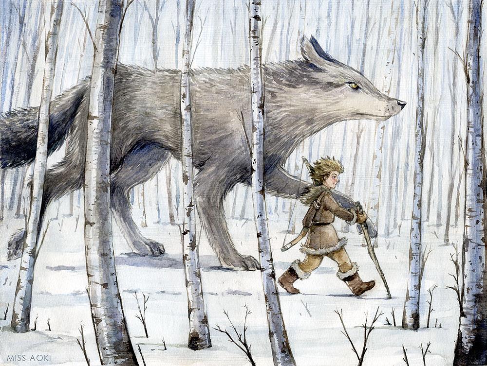 """Ilustración """"Pedro y el lobo"""" by Miss Aoki"""
