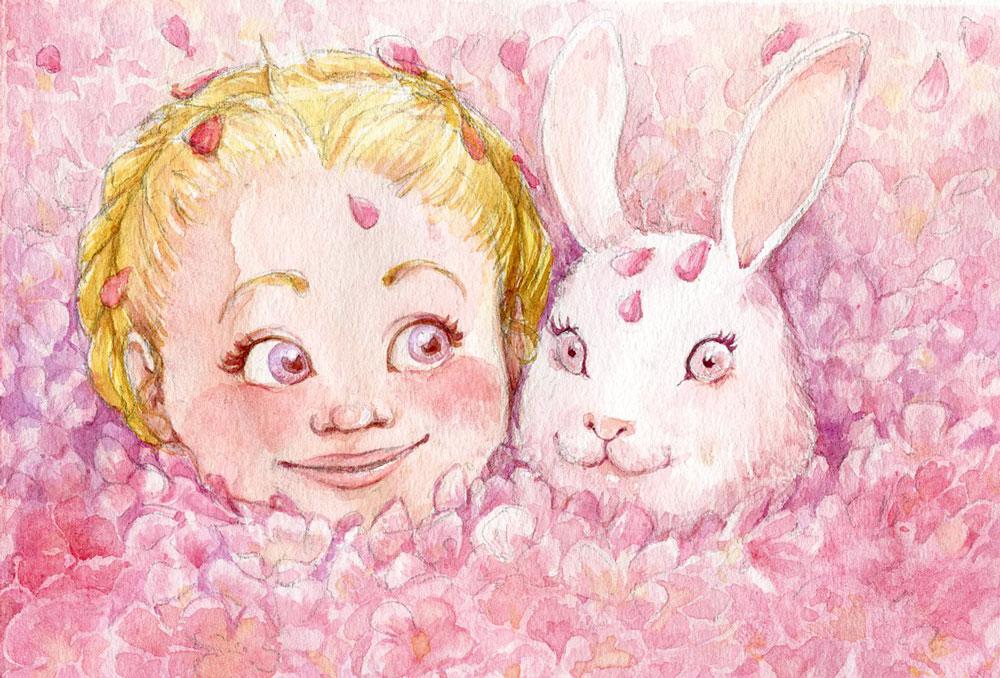 """Ilustración """"Flores rosas"""" By Miss Aoki"""
